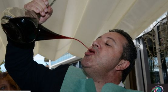 Photo of drinking straight from the wine jug at ClickBakers' Lunch & Lounge at Pic Nic.