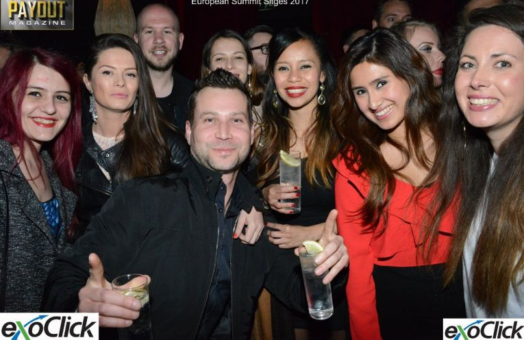 Photo of group at Exoclick Sweet Pacha party TES 2017.