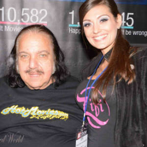 BTW photo of stripper-turned-journalist-blogger ZiFi with Ron Jeremy.
