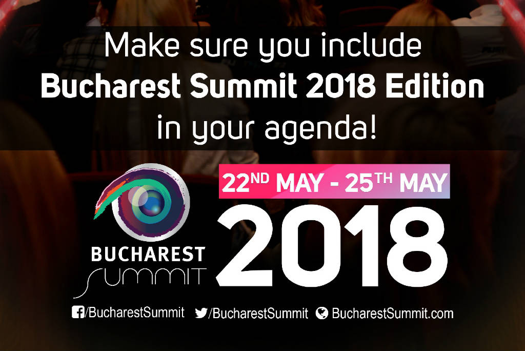 Second of Two Ad sliders for Bucharest Summit 2018.
