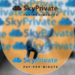 SkyPrivate and Bitcoin Logo Mashup.