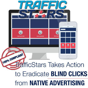 Trafficstars logo and infographics.