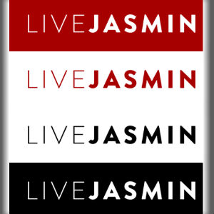 Graphical image of the LiveJasmin logo, repeated in a colour-swapping stack four times.