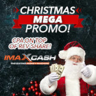 The imaXcash Xmas Mega Promo banner.