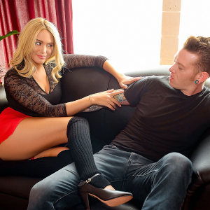 "Athena Palomino and Johnny Goodluck in a promo photo for ""Stretch Time""."