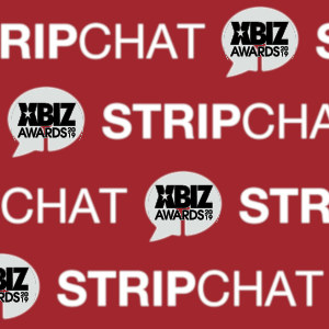 Graphic mashup with the Stripchat and XBIZ Awards logos.
