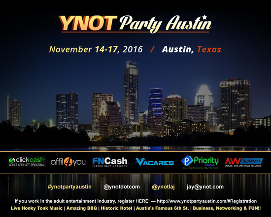 YNOT Texas Party Poster.