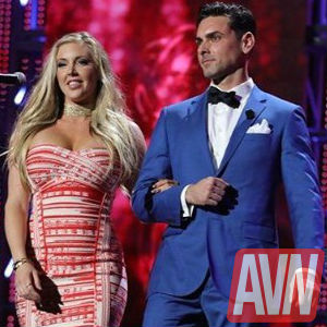 Photo of Ryan Driller on stage at The AVN Awards