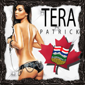 Promo poster for Tera Patrick feature tour of Alberta, Canada.