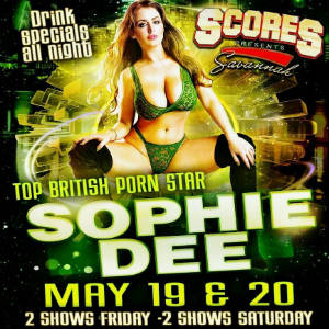 Poster for Sophie Dee feature dance appearance.