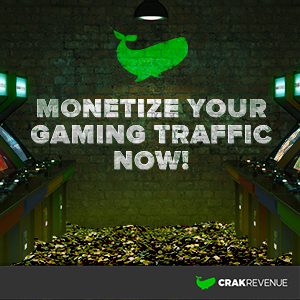 Image graphic for CrakRevenue's new gaming verticals program.