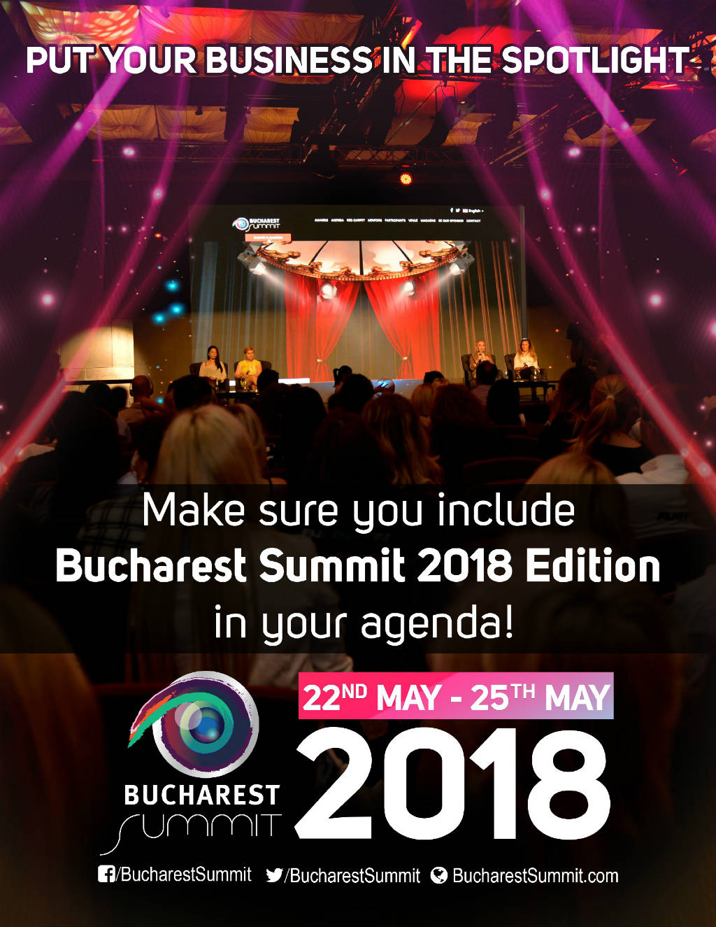 Full Poster ad for Bucharest Summit 2018.