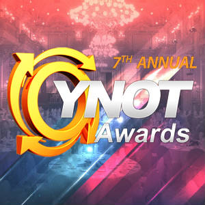 YNOT Awards logo for its new website.