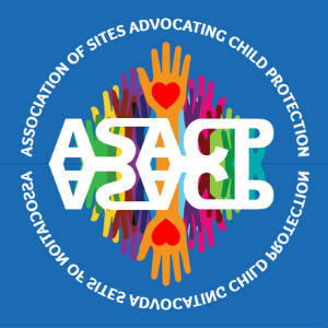The logo of the ASACP, reflected.