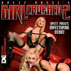 Detail from the DVD cover of Brett Rossi's Girl Crushed 2.