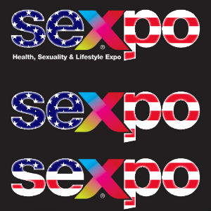 Graphical Sexpo Logo in US Flag Colors.
