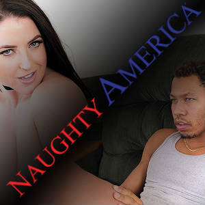 Collage picture of Ricky Johnson and Angela White in action at NaughtyAmerica.