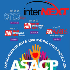 Logo mashup for ASACP's attendance at Internext Expo and the AEE shows in Las Vegas.