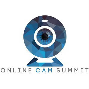 Modified, cubist version of typical webcam icon as lofo gor the online cam summit!