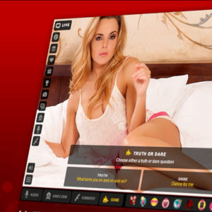 Graphic Of Model Onscreen Playing Truth Or Dare
