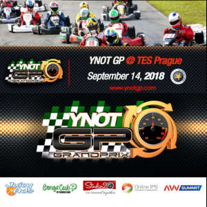 Graphic featuring the time and place as well as logo for the YNOT Grand Prix.