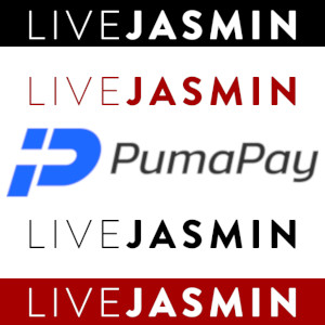 Graphic mashup featuring the logos of LiveJasmin and PumaPay.