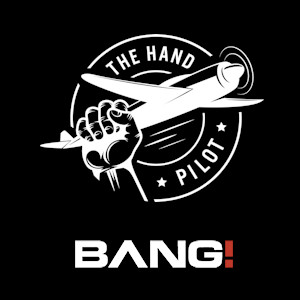 Graphic mash-up of the Bang! and The Hand Pilot logos...