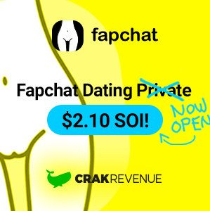 The Fapchat logo on a stylized nude feminine waist graphic above the CrakRevenue whale.