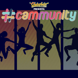 Graphic representing people jumping for joy in silhouette with the #cammunity logo.