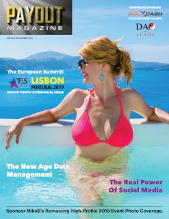 Cover of Payout Magazine online Volume 9.5, featuring a woman in a pink bikini.