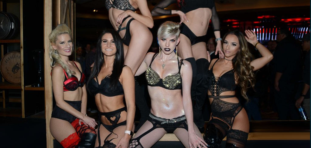 Group show of hot sexy people in sexy clothes at the AVN Expo 2020 welcome party.