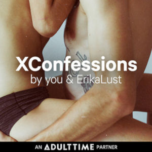 An all-skin closeup of two bodies in an arm and leg embrace with the XConfessions logo superimposed.