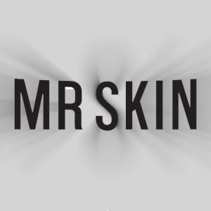 The Mr.Skin logo with a a kind of whoosh effect added.