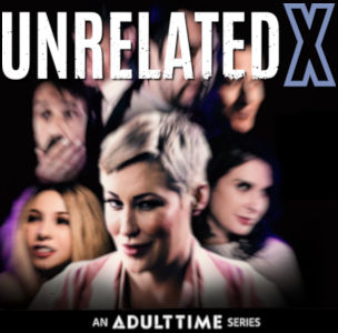 A group photo-collage of the cast of UnrelatedX against a dark background with the title up above.
