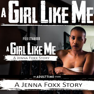 Promo photo for A Girl Like Me featuring a beautiful, bald black woman.
