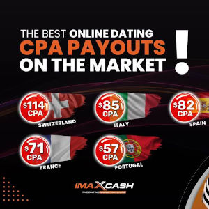 Graphic display of various CPA payouts now offered by imaXcash.