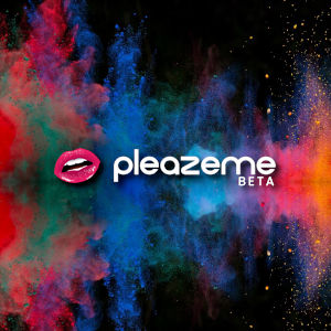 Graphic with the PleazeMe logo with an explosion of colours in the background.