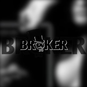 The Broker.xxx logo superimposed over a semi-transparent Broker.xxx logo over a tantalizingly out of focus black and white shotof what appears to be an out of focus bosom.