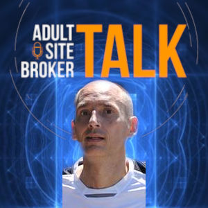 The Adult Site Broker Talk logo above a vignette images of Chat Anderson.