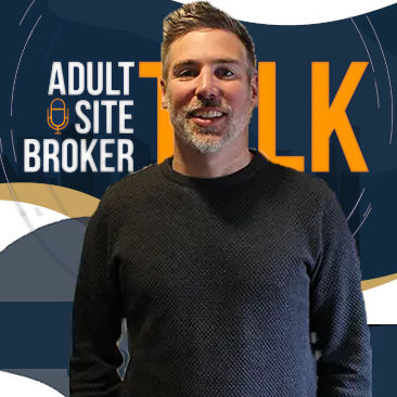 A promotional photo of Jason Hunt with the AdultSiteBrokerTalk logo behind.